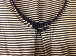 Old Navy Maternity Women Size XS Tank Top Nautical Navy & White Stripes w/ Trim image 2