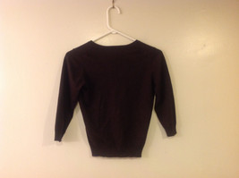 Marks and Spencer Women US Size 8 Scoop Sweater Dark Chocolate Brown UK Size 12 image 2