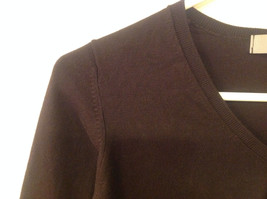 Marks and Spencer Women US Size 8 Scoop Sweater Dark Chocolate Brown UK Size 12 image 4