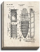Surfboard Patent Print Old Look on Canvas - $69.95+