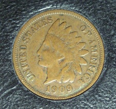 1909 Indian Head Cent F12 #1035 - $13.59
