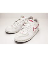 Nike 10.5 White Red Court Shoes Men's - $39.00