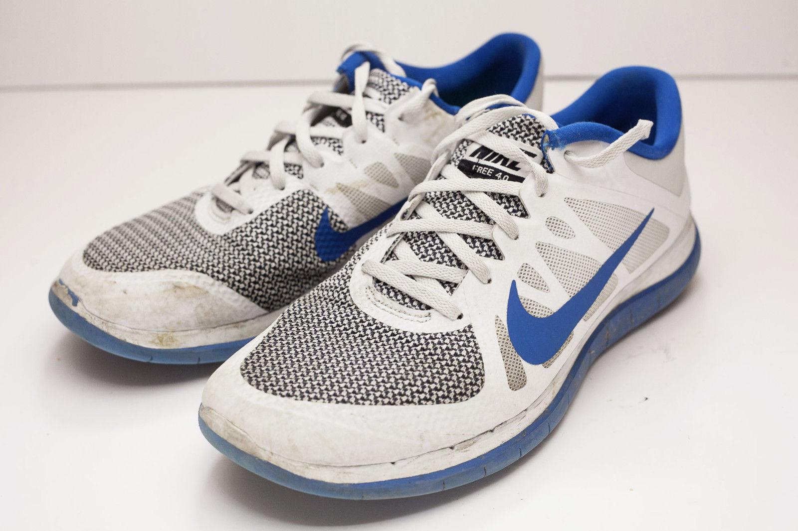 Nike Free 12 White Blue Men's Running Shoes