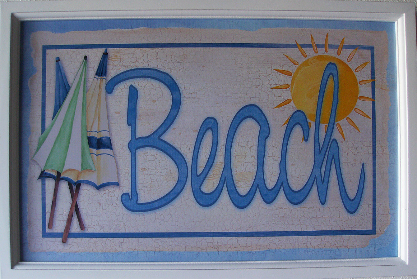 Wholesale Lot of 6 Beach Cafe Ocean Seafood Market Wood Pub Sign