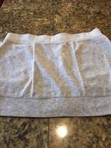 Juicy Couture Skirt Mini Large Velour Gray Ladies - $9.49