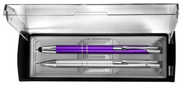 G T Luscombe 82825 Gift Set-Adoration Pen & Pencil - Violet & Silver - ₹483.36 INR