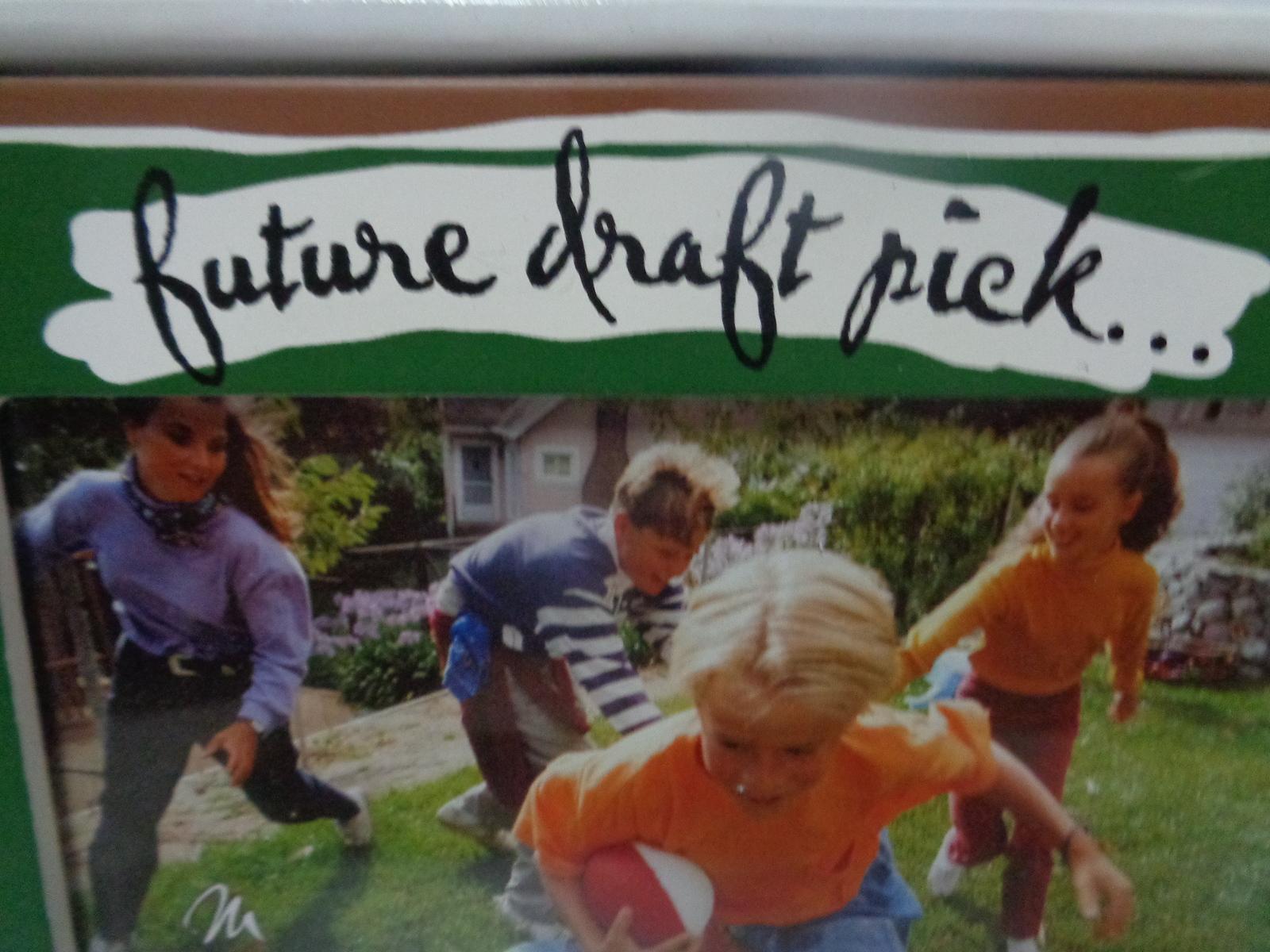 "FUTURE DRAFT PIC Football Wood Photo Frame 4""x 6"" NIB"