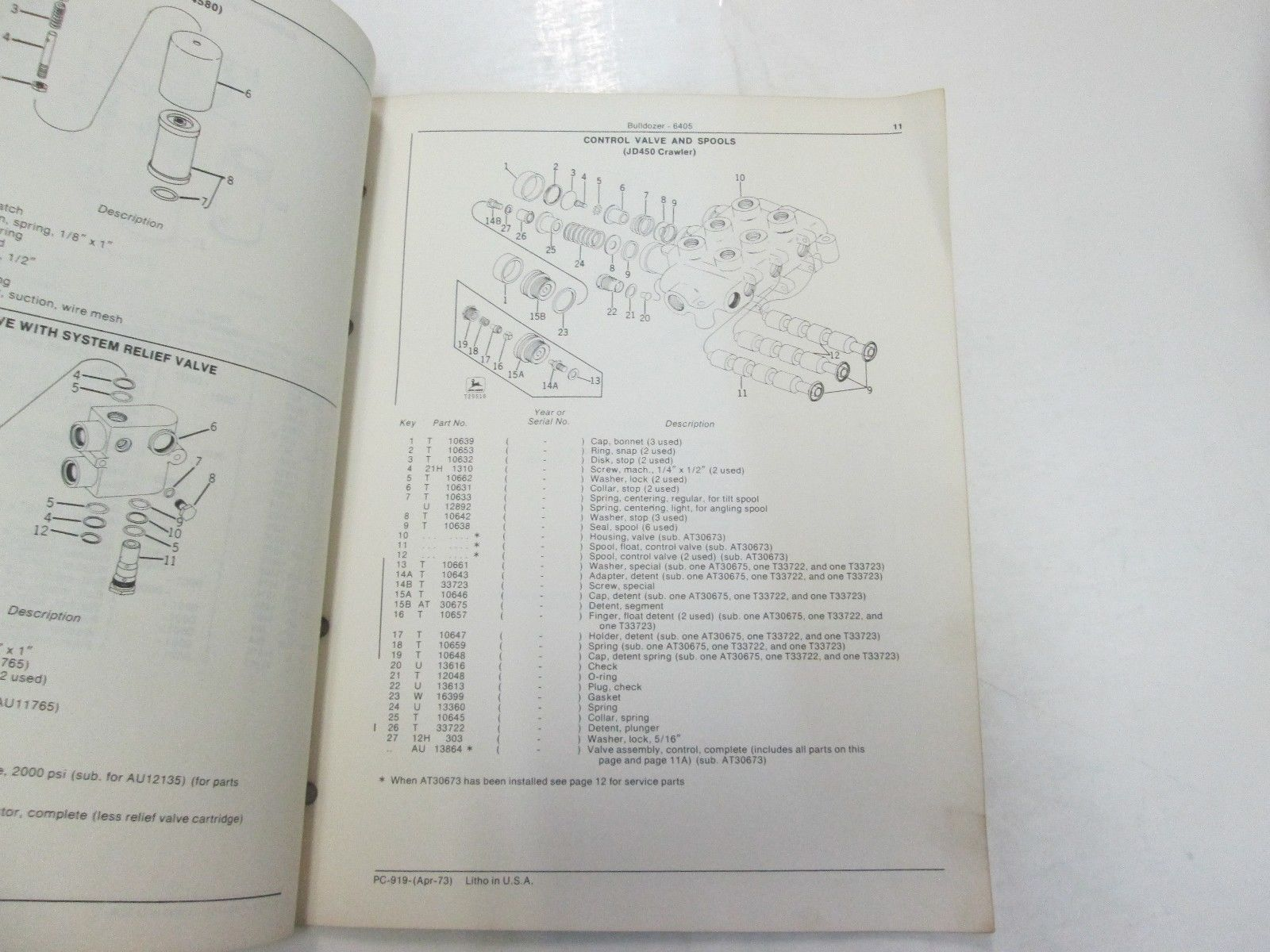 John Deere 6405 Bulldozer Parts Catalog and 28 similar items