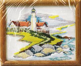 "Creative Circle Counted Stitchery Cross Stitch Lighthouse Point Kit 8"" x 10"" - $14.99"