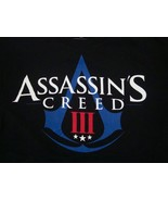 Assassin's Creed III 3 Ubisoft Montreal Video Game Release Black T Shirt M - $17.36