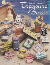 Treasure Boxes, Home Decor Plastic Canvas Pattern The Needlecraft Shop 9... - $4.95