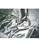 SILVER GRAY 100% PURE SILK FABRIC BRIDESMAID DRESS DRAPE SKIRT BLOUSE SCARF - $16.99