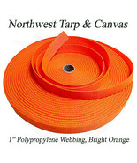 """Polypro Webbing, 1"""" Bright Orange 100 Yard Roll - Shipped from The USA! - $37.37"""