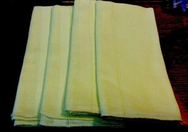 Yellow Fabric Napkins-Set Of 4 - $4.99