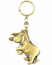 Walt Disney Winnie the Pooh Eeyore Figure Brass Key Ring Key Chain NEW UNUSED - $9.70