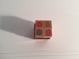 Lot 4 vintage Hero Tiny Ornaments Stamp Set Stamps Ornament 20291 NEVER ... - $13.99