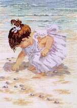 Janlynn Counted Cross Stitch Kit Collecting Shells - $14.00