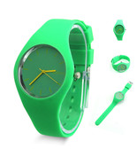 Fashion Super Soft Geneva Women Jelly Silicone Sports Watch Students Wat... - $6.80