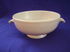 Vintage Fiestaware Grey Gray Casserole Bowl Dish Fiesta - $68.00