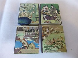 Set of 4 Matchboxes Asian Theme EMPTY - $19.78