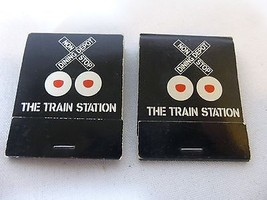 The Train Station Matchbook Pair Fort Lauderdale Florida - $19.78