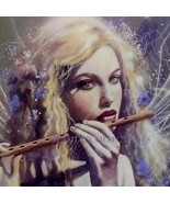 A Little Night Music By David DELAMARE 11 x 14 Matted Art Print First Issue - $38.90
