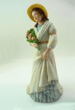 Pretty Charlotte Rose with Flower Bouquet #1468 Fine Porcelain Figurine HOMCO - $17.90