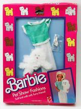 VINTAGE Barbie Pet Show Fashions Soft Knit With Soft White Furry Cat Fri... - $42.90