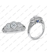 2 Ct Round Cut White Cz 14k White Gold Fn.925 Silver Engagement Wedding Ring - $72.99