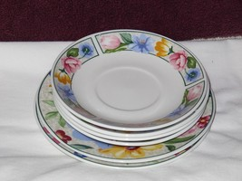 6 Pc Lot Tabletops Unlimited Heavenly Bouquet 4 Saucers 2 Salad Dessert Plates - $29.69 & Tabletops Unlimited Plates: 14 listings