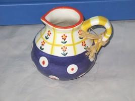 Vtg 98 Doorknobs Ceramic Hand Painted Creamer P... - $21.77