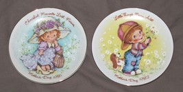 EUC Vintage 1981 1982 Avon Mothers Day Plates Cherished Moments & Little Things - $16.82