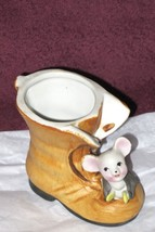 Vintage Porcelain Ceramic Musical Mouse Playing... - $12.86