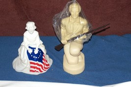 Vtg Avon Cologne After Shave Decanters Bottles Betsy Ross Flag Minuteman... - $17.81