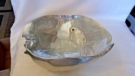 1977 Arthur Court Fish Bowl,  Koi Fish Two Gold Koi Fish with Carnelian ... - $148.50