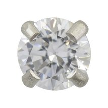 Sensitive Stainless 4 mm Cubic Zirconia Cartilage Earring Stud Hypoallergenic Su - $9.99