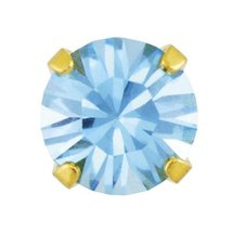 Sensitive Gold Plated 5 mm March Aquamarine Cartilage Earring Stud Hypoallergeni - $9.99