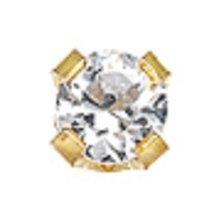 14k Gold Tiffany 5 Point Genuine Diamond Box - $93.00