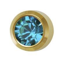 Universal December Ear Piercing Birthstones 6 Pair Blue Zircon 24 K Gold Cartila - $9.99