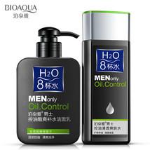 BIOAQUA Men H2O Oil Control Facial Cleanser Face Care Skin Refreshing 2P... - $15.19