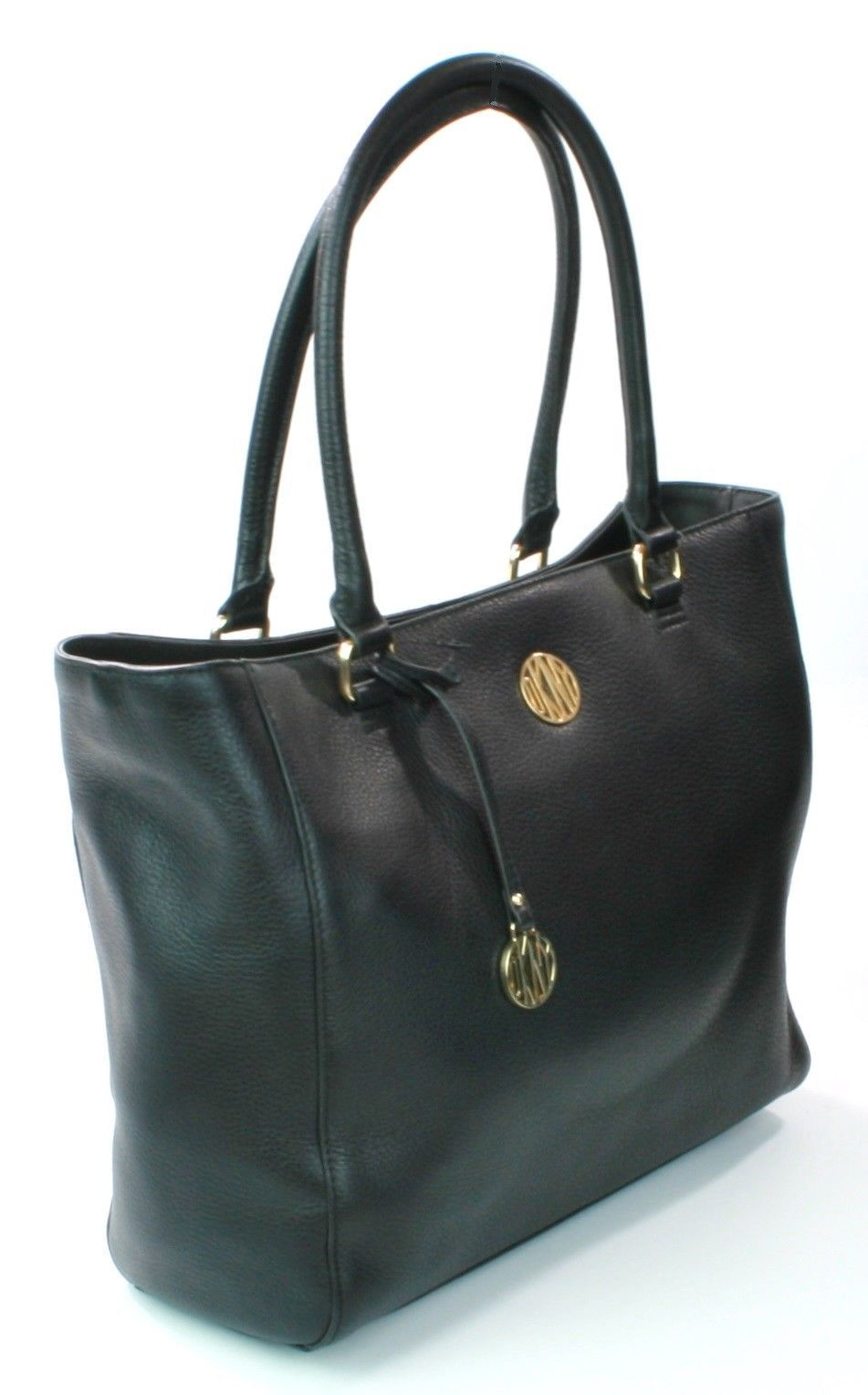 Donna Karan DKNY Black Leather Large Tote Shopper Bag Handbag large