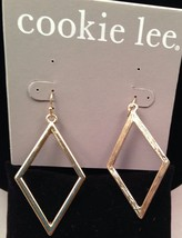 New Cookie Lee Gold Colored Drop Earrings Triangle Shape - $9.75