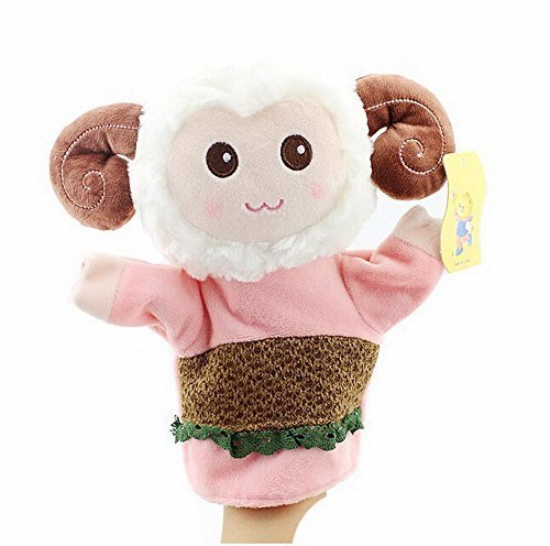 Cartoon hand puppet preschool educational toys for Toddler(Sheep in Pink)