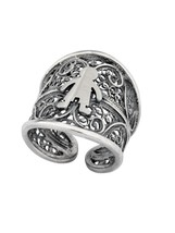 Ring traditional portuguese filigree, sterling silver (PAN22) with 1x boy - £43.26 GBP