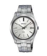 Seiko, men watch, 7N42, casual, silver dial, SGEE41 - $120.00