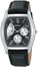 Seiko leather strap, classic, grey numbers SNT017 - $146.52