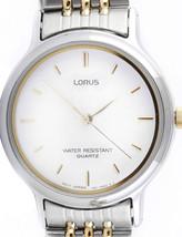 Lorus watch, white dial,  RPH647, analog, quartz - $37.00