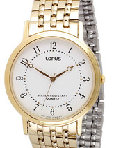 Lorus watch, white dial,  RMF678, analog, quartz - $38.00