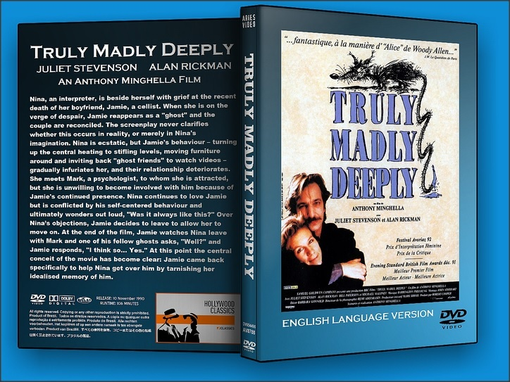 a paper on the movie truly madly deeply What makes this movie admirable is the deft and sensitive rendering of the act of letting go, from both the point of view of the lost and the living 57 of 59 people found this review helpful was this review helpful to you.