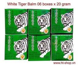 Tiger Balm, White Tiger Balm, 6 boxes x 20 grams, Tigre Blanc Ointment, ... - $12.86